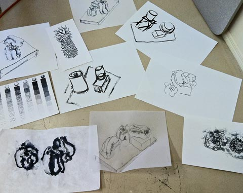 Overview of projects, Ink Drawing workshop, Oracle