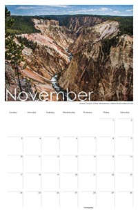 Sample of a month–November, 2012 US Route 89 Calendar