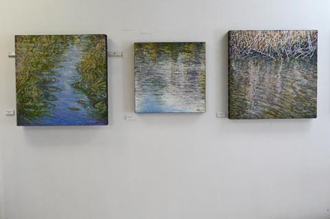 A view of a few of my paintings