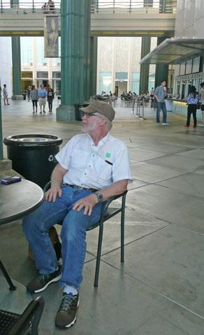 Jim taking a break LAACMA