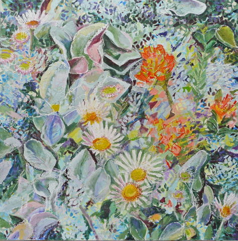Closer, square flowers
