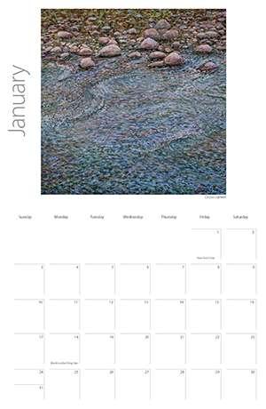 2016 Painting Water Calendar