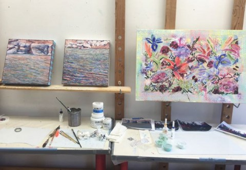 A Race to the Finish Line—Will She Finish These Paintings?