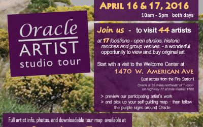 Oracle Artist Studio Tour—April 16 & 17!
