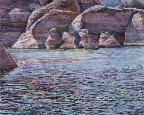 Acrylic painting on panel 16x20