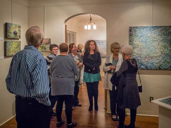 Crowd at Casa Grande Art Museum opening.