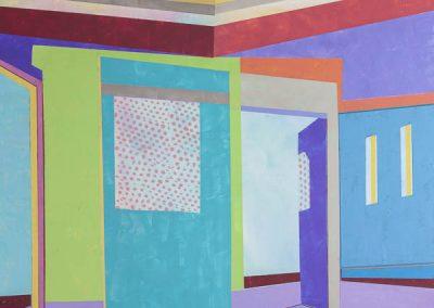 Askew #81, Acrylic on panel, 36x36, 2020