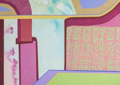 Askew #82, Acrylic on panel, 36x36, 2020